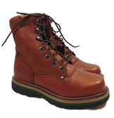 John Deere Men's Lace Up Work Boots, Brown Walnut (Available In Store)