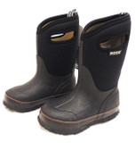 Bogs Kid's Black Rubber Boots Youth Sizes (In-Store-Only)