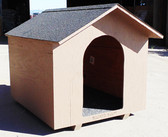 Wood Dog House, carpeted inside, for medium sized dog (in-store-only)