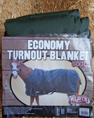 "Weaver L, Economy TURNOUT BLANKET 600D, Size 84"", Hunter Green"