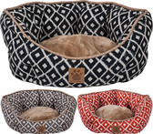 Precision Snoozzy Clamshell 19 inch Round Pet Bed (Available Online in NAVY Print)
