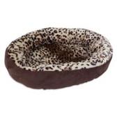 "Aspen Pet 18"" Oval Pet Bed (cheetah print)"