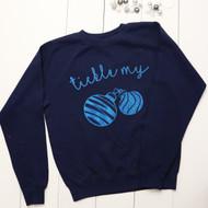 Personalised 'Tickle Me' sweatshirt - Unisex - glitter