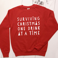 Personalised 'Surviving Christmas' sweatshirt - Unisex