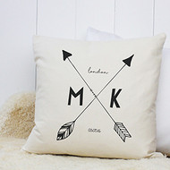 Personalised 'Arrow Initial' Cushion
