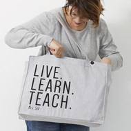 Personalised 'Live Learn Teach' Bag