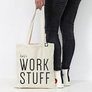 Personalised  'Work Stuff' Tote Bag