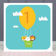 Personalised Age One Birthday Greeting Card