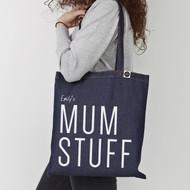 Personalised  'Mum Stuff' Tote Bag