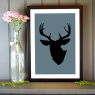 Personalised Stag Silhouette Poster