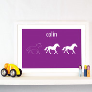 Personalised Trio of Horses Poster