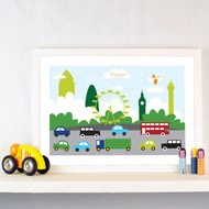 Personalised London Traffic 1 Poster