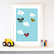 Personalised Butterflies Poster