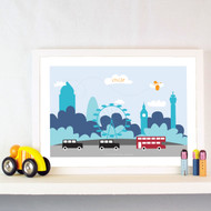 Personalised London Traffic 2 Poster
