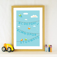 Personalised ABC Washing Line Poster