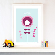 Personalised Flowers Poster