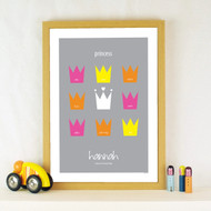 Personalised The Princess Poster