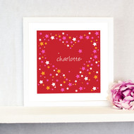 Personalised Heart of Stars Poster