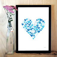 Personalised Heart of Hearts Poster