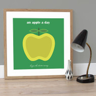Personalised Apple a Day Poster