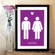 Personalised The Couple Poster