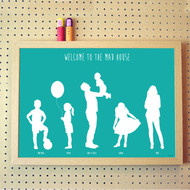 Personalised Silhouette Family Poster
