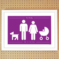 Personalised Family and Pets Poster