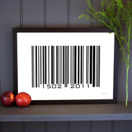 Personalised Barcode Poster