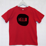 Personalised 'Hello' Child's Organic Cotton T-shirt