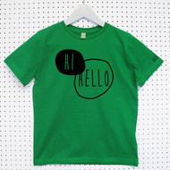 Personalised 'Hi, Hello' Child's Organic Cotton T-shirt