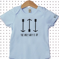 'The Only Way Is Up' Organic Cotton Babygrow or Jumpsuit