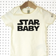 'Star Wars Baby' Organic Cotton Babygrow or Jumpsuit