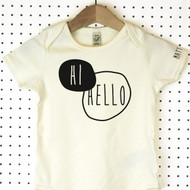 'Hi Hello' Organic Cotton Babygrow or Jumpsuit