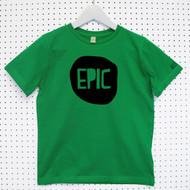 Personalised 'Epic' Child's Organic Cotton T-shirt