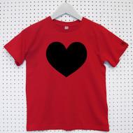 Personalised 'Heart' Child's Organic Cotton T-shirt