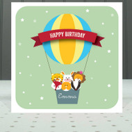Personalised Balloon Birthday Greeting Card