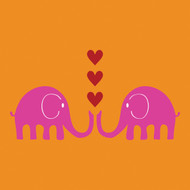 Pink Elephants Greeting Card