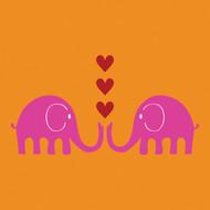 Pink Elephants Greeting Card