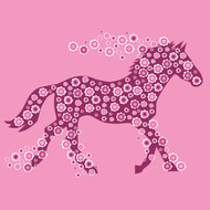 Horse Of Flowers Greeting Card