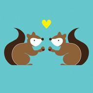 Squirrel love Greeting Card