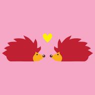 Hedgehog love Greeting Card