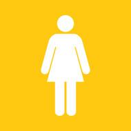 Yellow Girl Greeting Card
