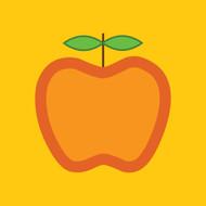 Yellow Apple Greeting Card