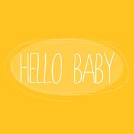 Hello baby Greeting Card