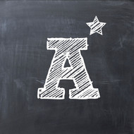 A star chalkboard Greeting Card