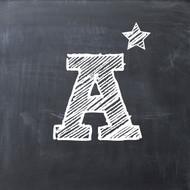 A star chalkboard Greeting Card