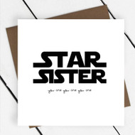 'Star Sister' Text Greeting Card
