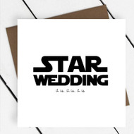 'Star Wedding' Star Wars Greeting Card