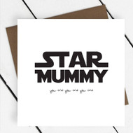 'Star Mummy' Star Wars Greeting Card