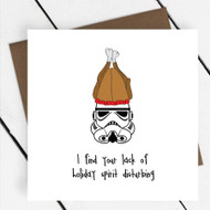 'Lack of Holiday Spirit' Star Wars Greeting Card